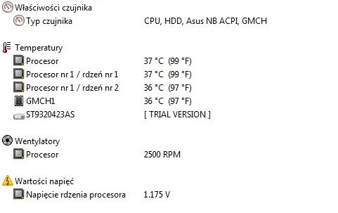 Asus F3SE - wysokie obroty wentylatora