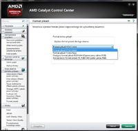 AMD Catalyst Control Center - Format koloru pikseli