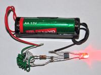 latarka z bia�ym led-em zasilana z baterii 1.2V