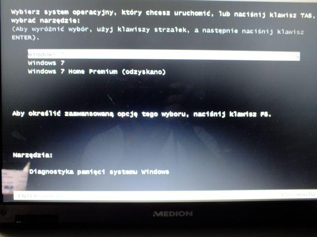 Brak plik�w na dysku d laptop medion mim 2300
