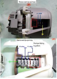 SMS50E58EU Bosch - pod��czenie starej pompy zamiast nowej wersji.