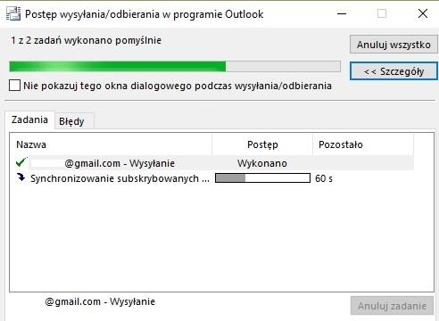 Podłącz Gmaila do programu Outlook
