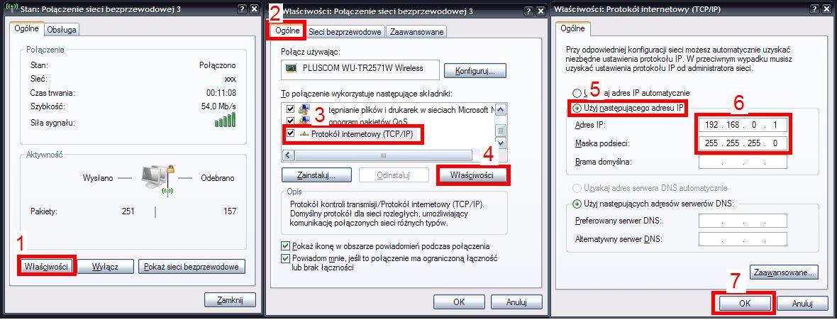 B��d podczas pr�by po��czenia laptopa z komputerem poprzez WiFi (AD HOC)
