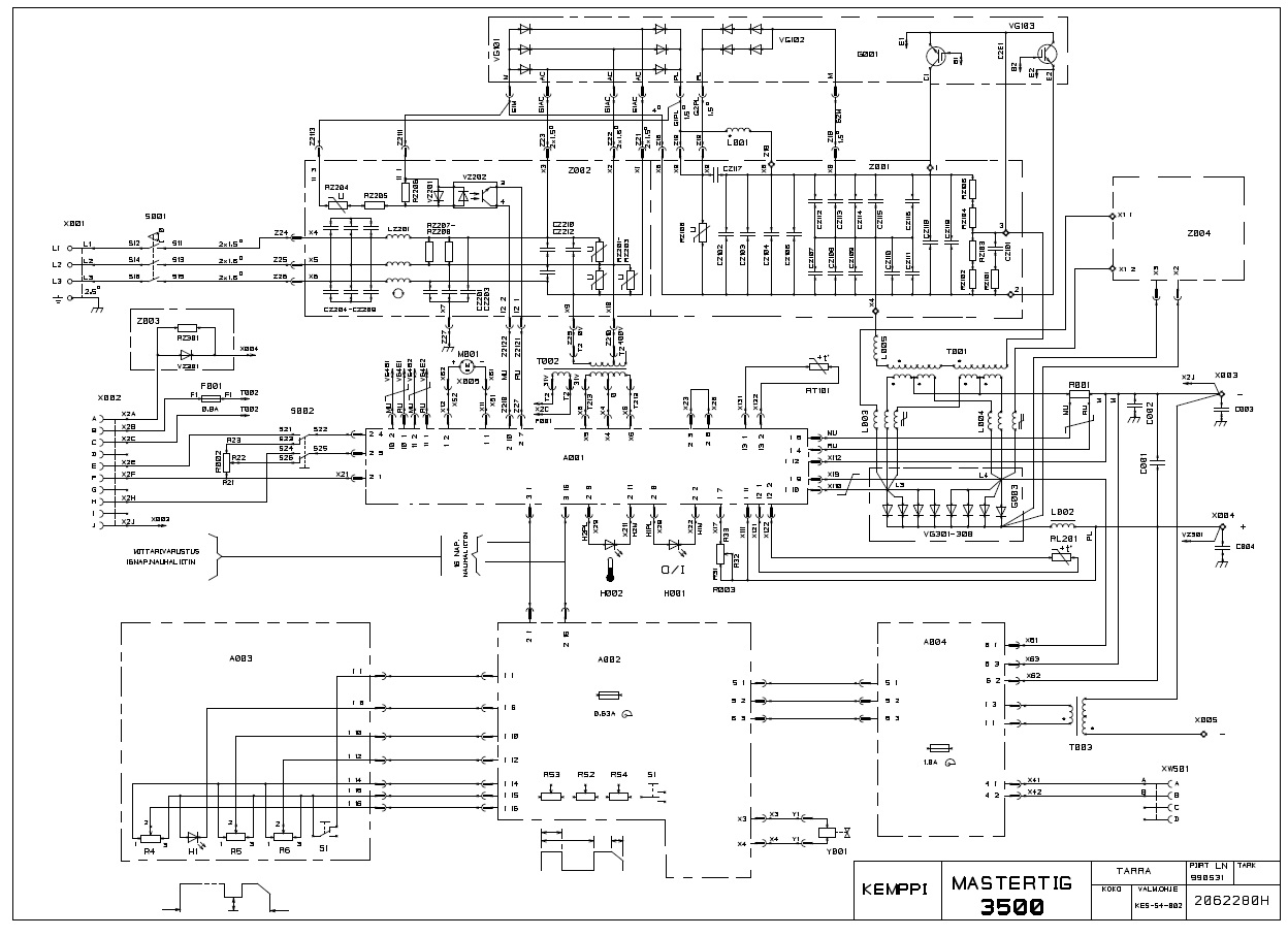 Kemppi Mastertig 3500 Burned Diode Electronics Forum Circuits Current Divider Forums Found This Schematic On A Polish