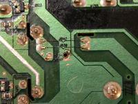 Telewizor samsung LE32A457CD uszkodzony kondensator.