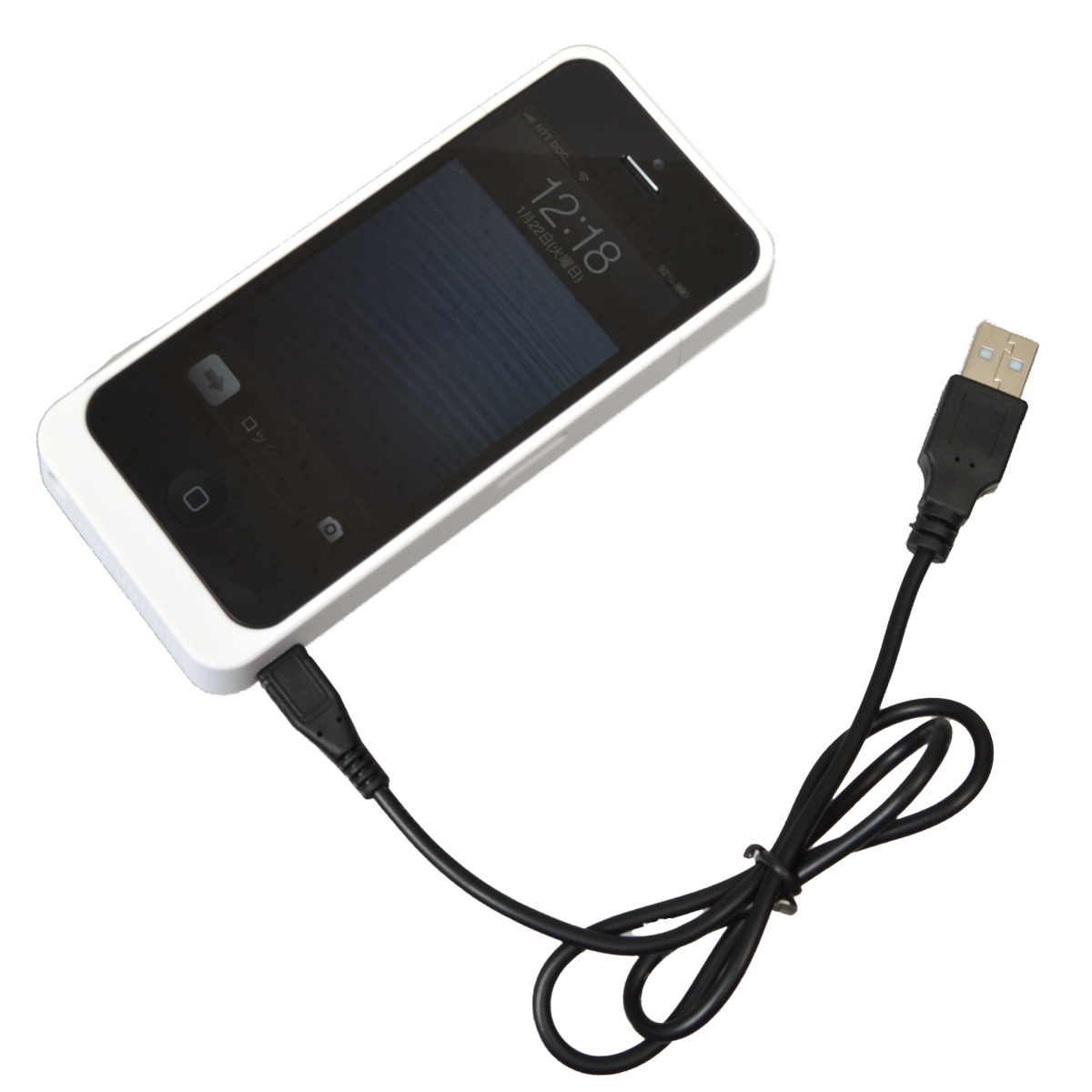 Thanko USIP5BT1 - obudowa dla iPhone 5 z akumulatorem 2600 mAh