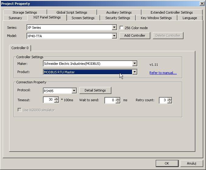 MODBUS - PLC SAIA i HMI LSIS