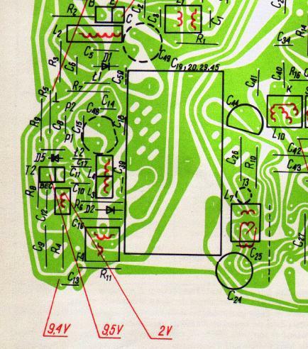 Zdjęcia płytki radia Unitra Diora Taraban DMP-502
