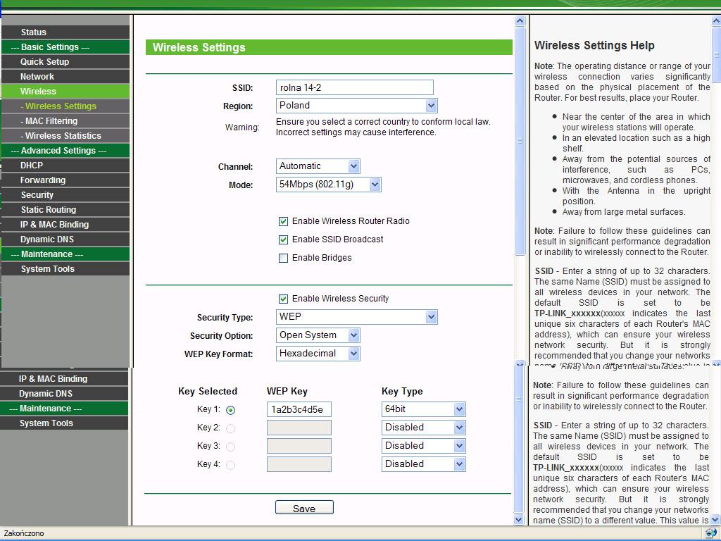 Router TP-LINK WR340G problem z zabezpieczeniem Wi-Fi