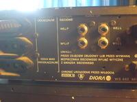 Diora wzmacniacz st. WS 442, korektor graf. FS 402 +2x kolumny. Podł. do PC.
