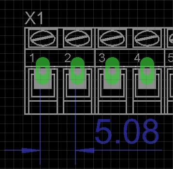 Zlacze ARK2/ARK3 (3,5 mm) w Eagle 6.1.0
