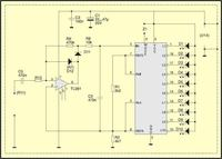Prosty miernik wysterowania dźwięku LED + Wzmacniacz WS 304 S