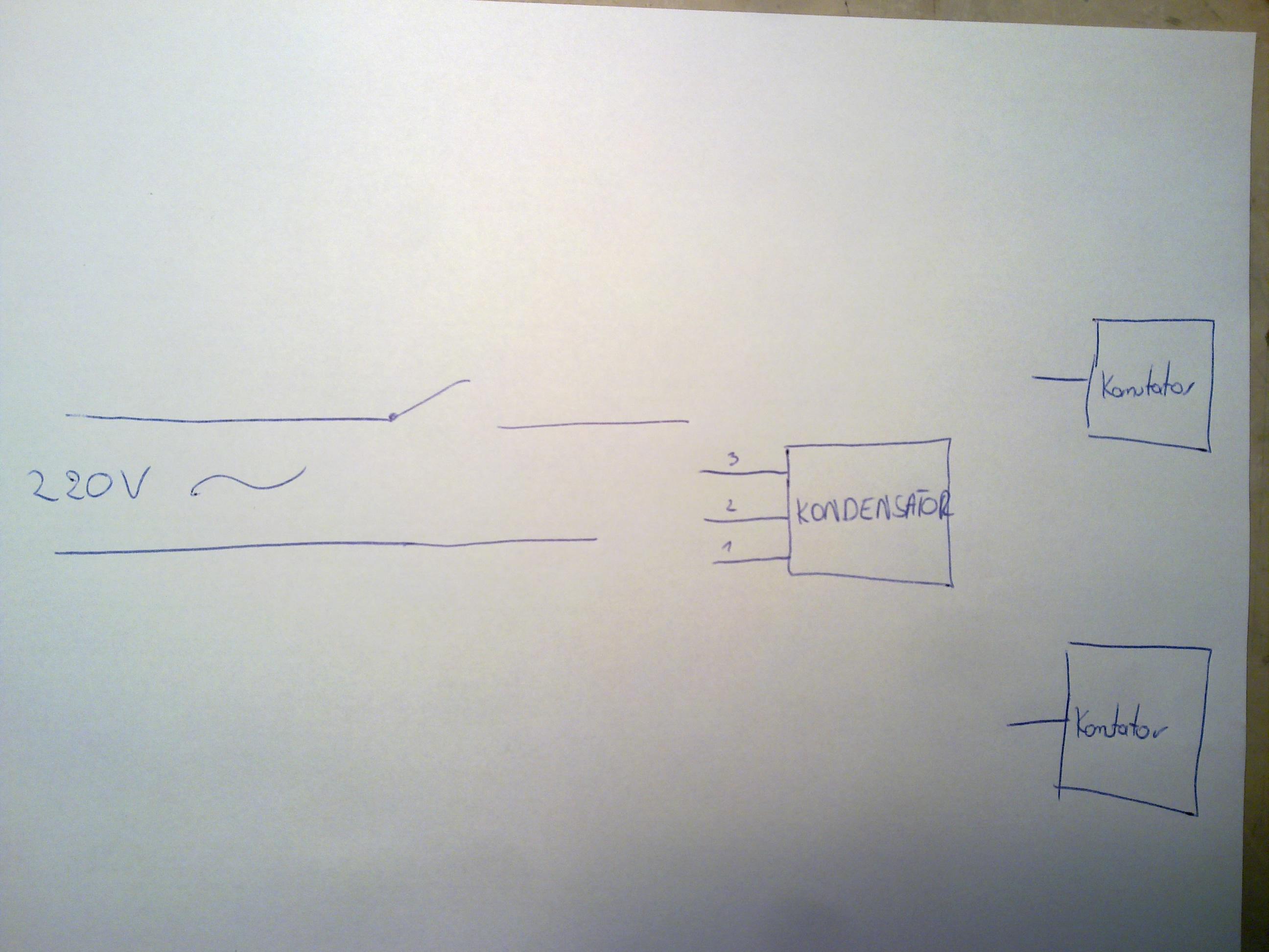 Szlifierka k�towa.  Jak pod��czy� kondensator z 3 wyj�ciami