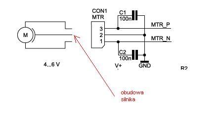 AVT - 1623B zmiana silnika na dwupinowy
