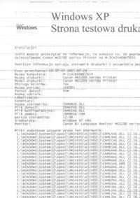 Canon/MG5250/atramentowa - Poziome linie oraz kropki na wydruku