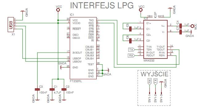 Pro�ba o sprawdzenie schematu interfejsu LPG