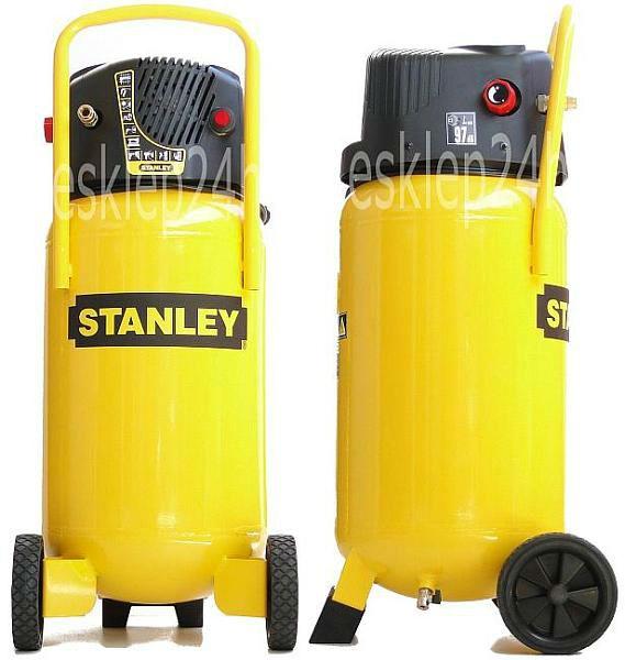 Regulacja cisnienia - kompresor Stanley 50L 10Bar pionowy bezolejowy