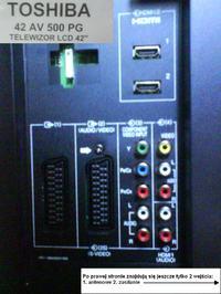 LCD Toshiba 42AV500PG i połączenie z PC