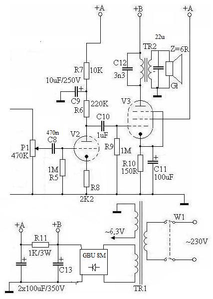 Odbiornik ECL86 + EF80 (?)