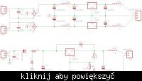 Zasilacz. 3 Transformatory, 1 masa