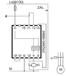 Przekaźnik bezpieczeństwa w maszynie z S7-200