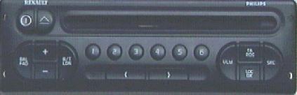 Radio Philips 6000 CD Megane Nieczytelny wyświetlacz