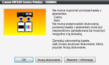 Canon MP 150 Pixma Błąd 5100