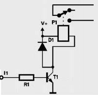 tranzystor steruje przekaźnikiem podczas impulsu 1V