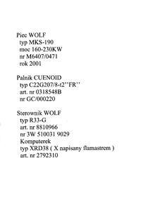Kocioł gazowy Wolf - pomoc w ustawieniu sterownika R33-G