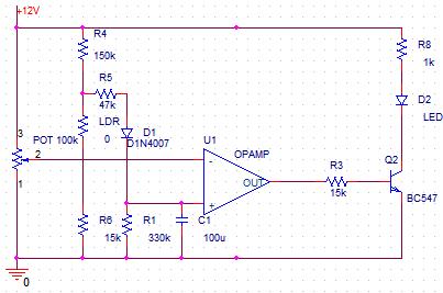 czujnik światła - prośba o sprawdzenie schematu
