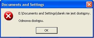 """Windows XP """"Odmowa dostępu"""""""
