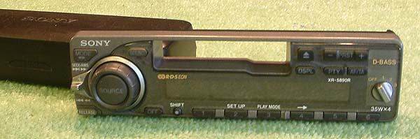 Sony XR-5890R - Radio samochodowe - jak włączyć?