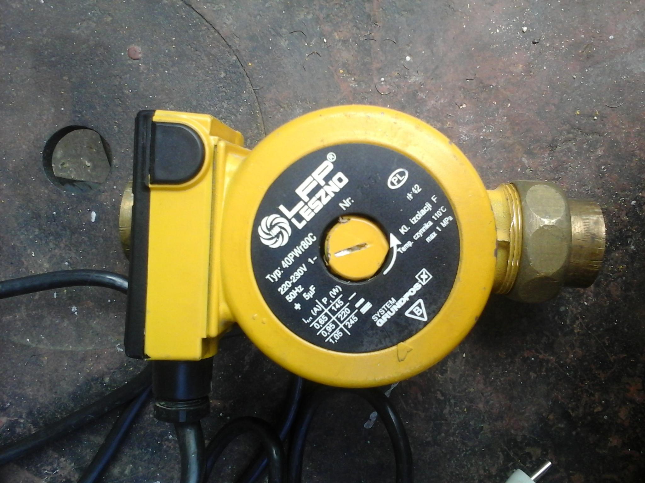 [Sprzedam] LFP Leszno Pompa C.W.U Typ : PWr - 40PWr80C nowa cena