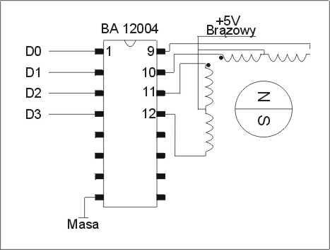 Sterownik silnika krokowego - przez LPT