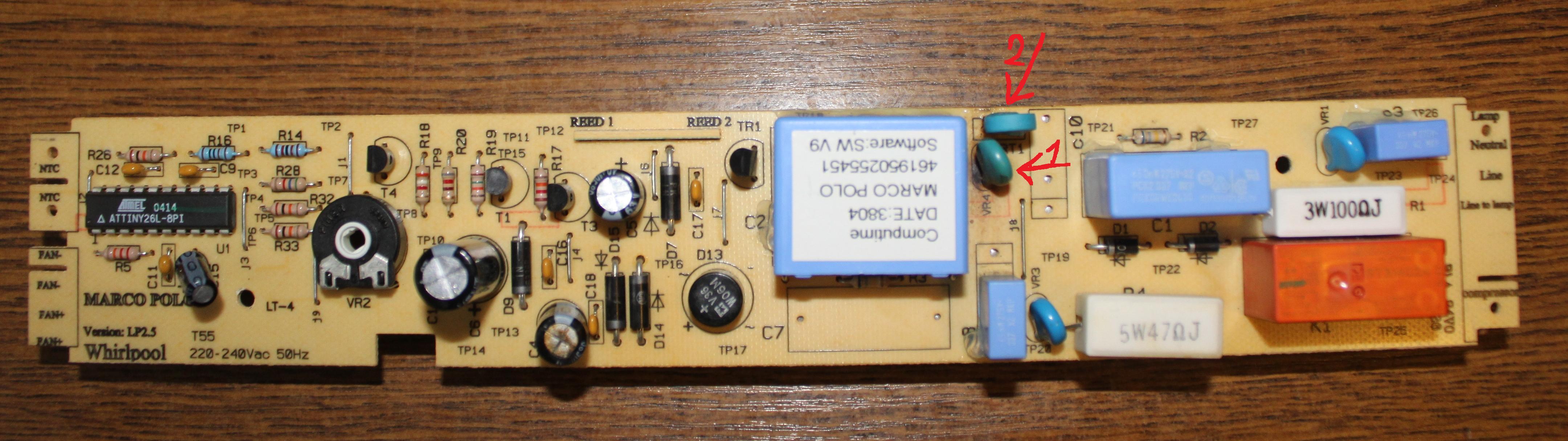 Whirpool ARC6670 - Modu� steruj�cy identyfikacja element�w