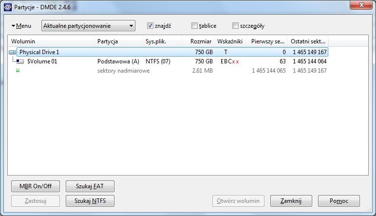 RAW zamiast NTFS - ADATA Superior SH93