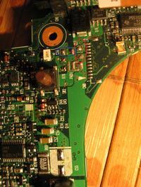HP compaq nx6110 rezystancja 1,1om pod c57 c59