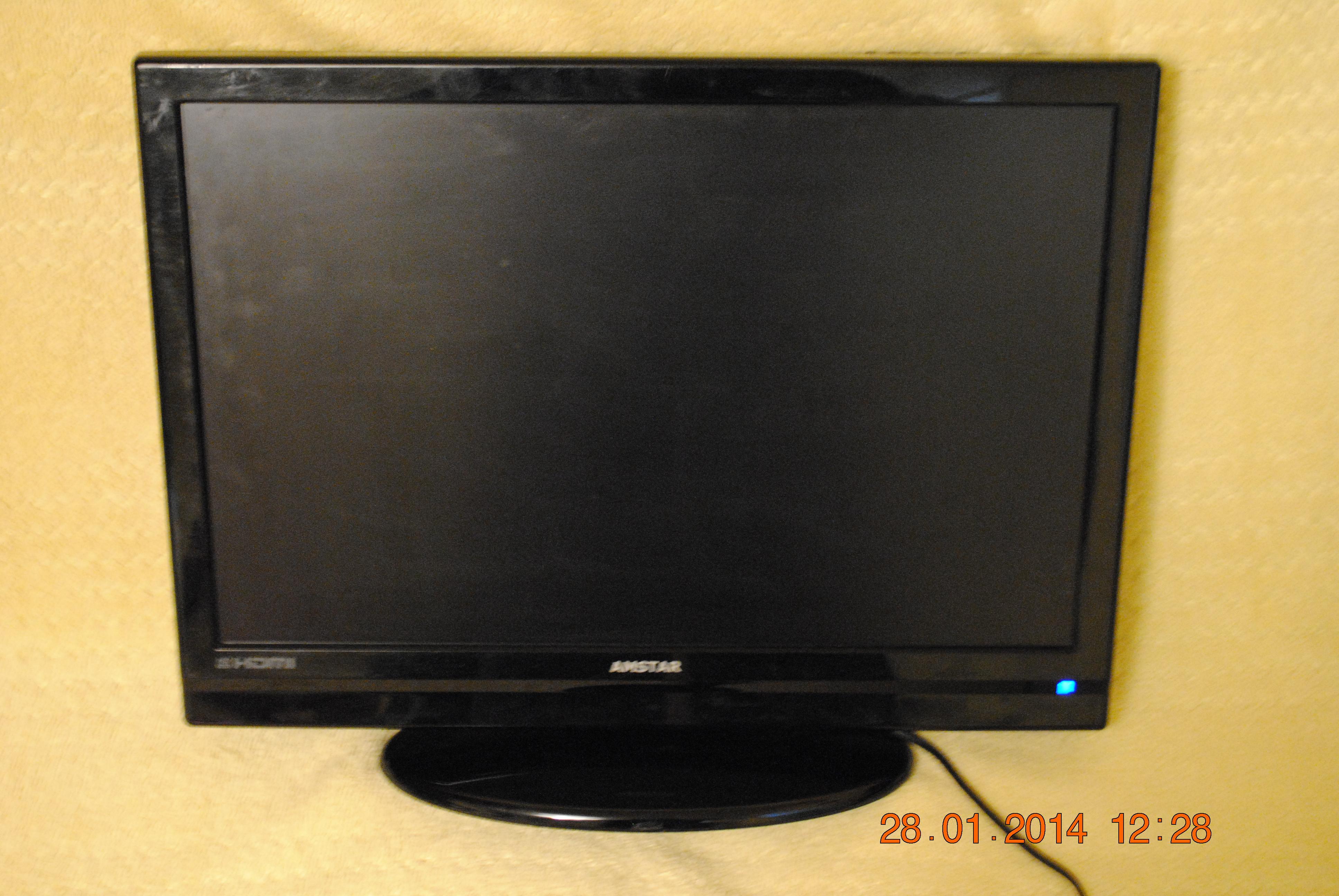 """Amstar 22"""" LCD/DVD - Nie w�ancza si�, brak obrazu i dzwieku, lekko pod�wiet"""