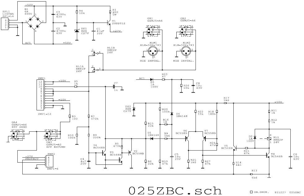 Powermixer Evergreen LDM MX-6 - przeka�nik wy��cza zasilanie wzmacniacza