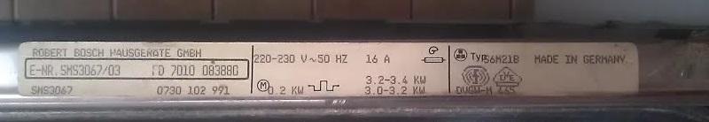 [Zmywarka Bosch Top25 typ S6M21B] Poszukuj� programatora do zmywarki BoschTOP 25