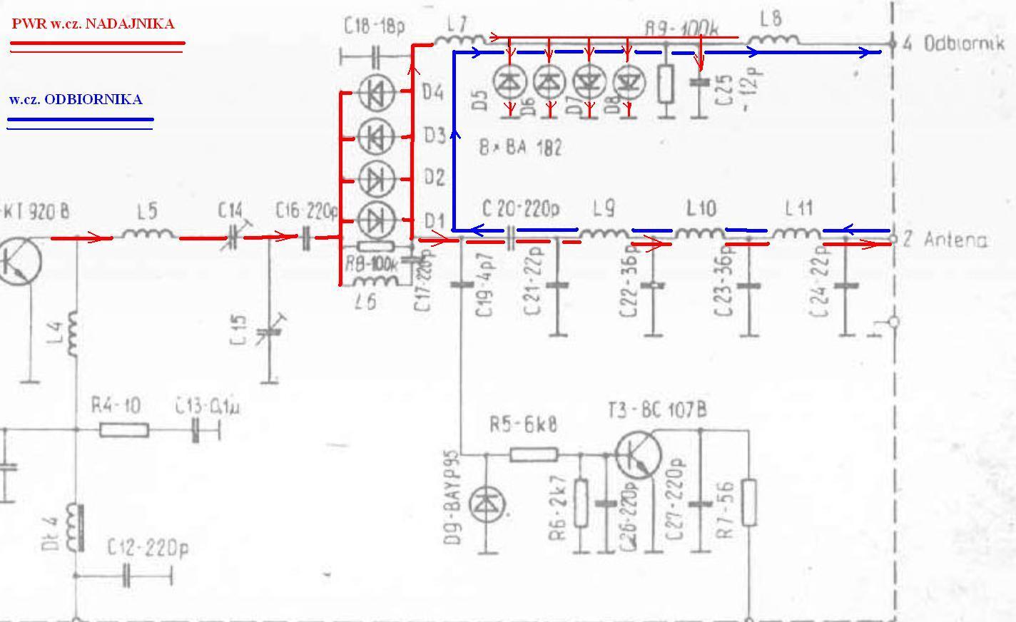 Radmor 3732 blok mocy - wyja�nienie funkcji element�w