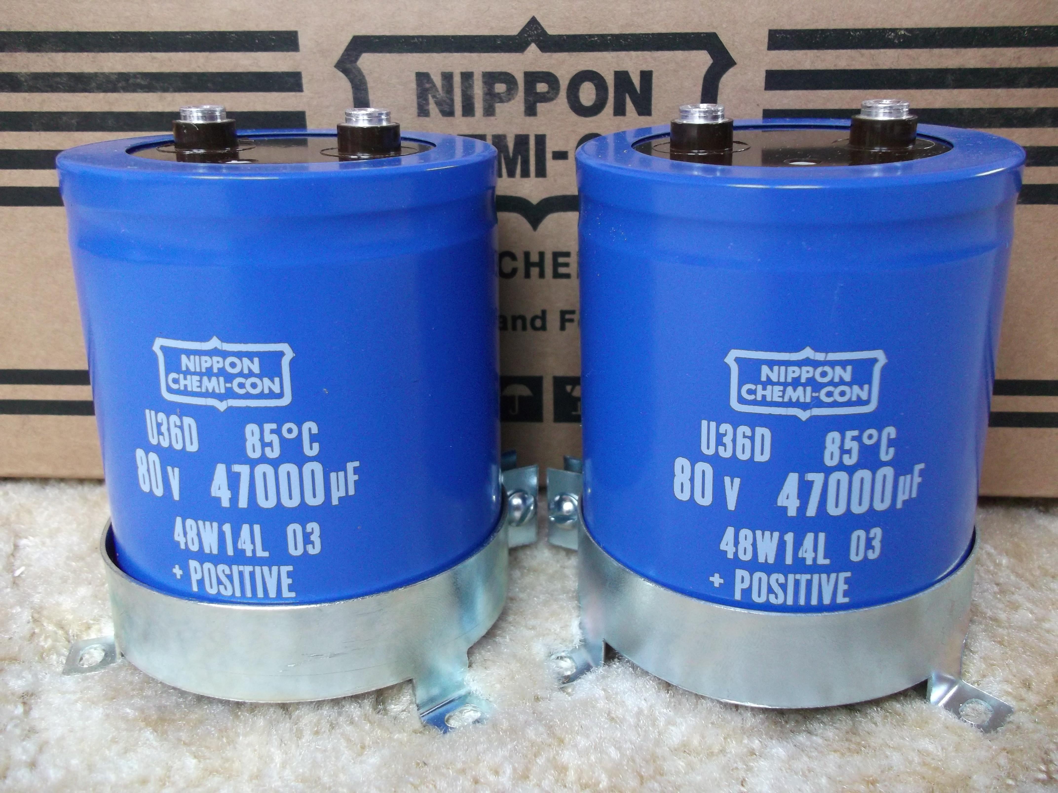 [Sprzedam] Nowe kondensatory Nippon 47000uF/80V