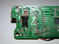 Myszka A4TECH X-700F - Obecność diod na wyjściach impulsatora i przełącznika.