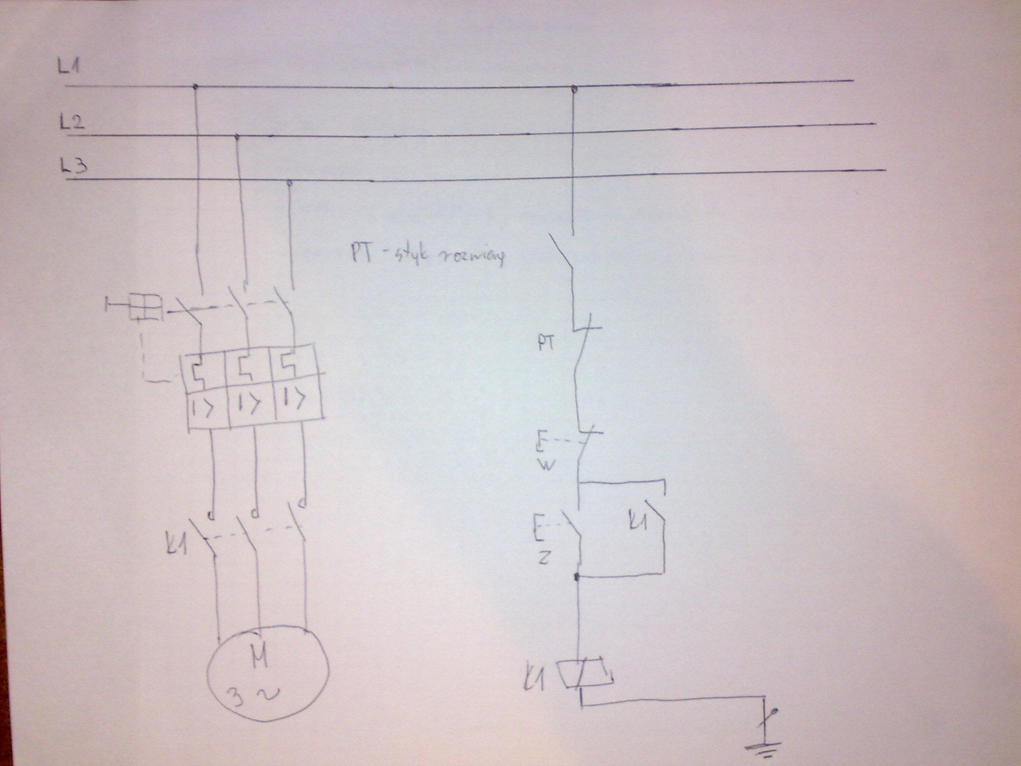 Schemat rozruchu silnika w sieci IT