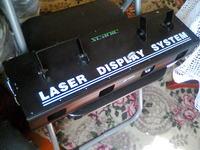 Scanic Laser Display System-padnięta czerwona dioda laserowa.