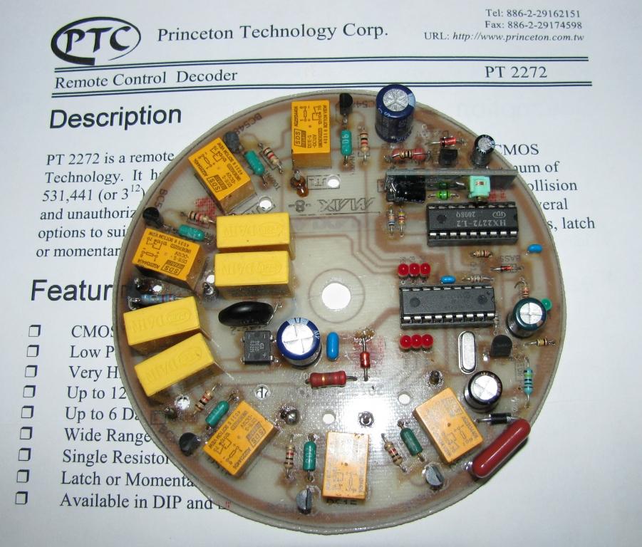 Zdalne sterowanie o�wietleniem w domu na PT2262/PT2272, pilot 433MHz.