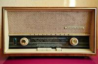 Telefunken Jubilat de Luxe - Radio po właczeniu buczy w głośniku .