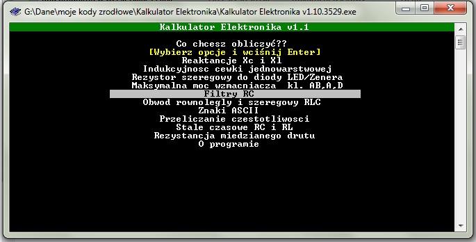 Kalkulator Elektronika v1.10.3529 - podstawowe obliczenia elektroniczne