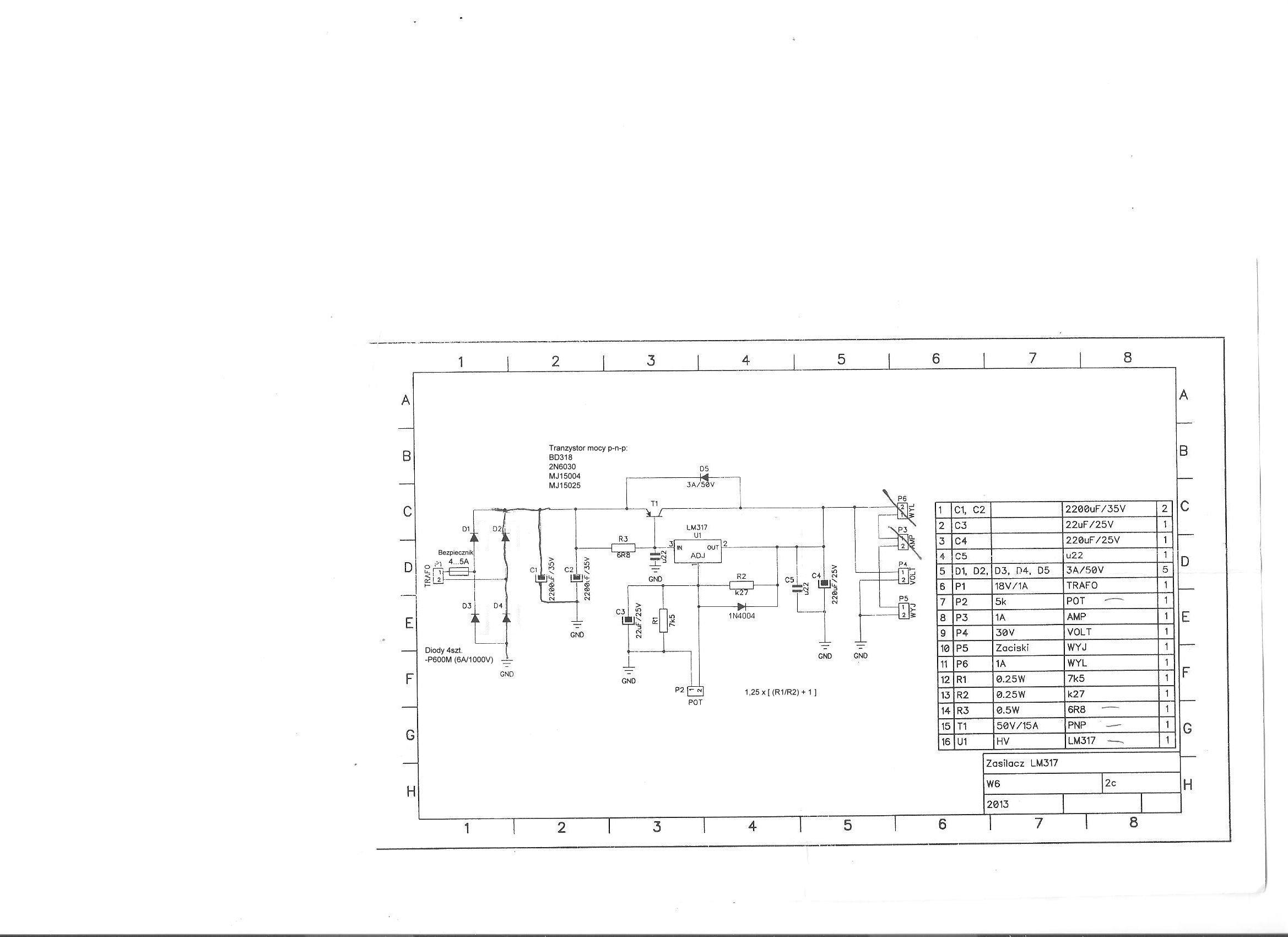 zasilacz na lm350 24v 2A. 20V spadek napi�cia