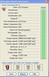 bateria BTY-S12 4400mAh 11.1V - laptop (MSI U100) nie ładuje baterii